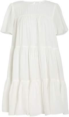 Anine Bing Tabitha Seersucker Babydoll Dress