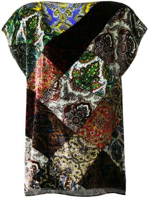 Pierre Louis Mascia Pierre-Louis Mascia patchwork printed blouse