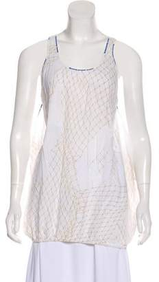 Grey Ant Printed Sleeveless Top