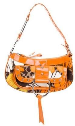 Dolce & Gabbana Patent Leather-Trim Shoulder Bag