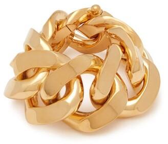 Bottega Veneta Gold Plated Curb Chain Bracelet - Womens - Gold