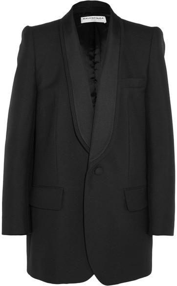 Balenciaga Balenciaga - Epaule Couture Wool And Mohair-blend Tuxedo Blazer - Black