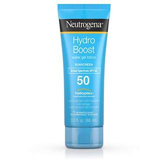 Neutrogena hydro boost water gel non-greasy moisturizing sunscreen lotion with broad spectrum spf 50