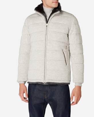Grey Quilted Mens Top - ShopStyle UK b1aba7feb