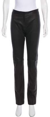 Derek Lam Mid-Rise Leather Pants