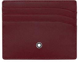 Montblanc Leather Card Case, Burgundy
