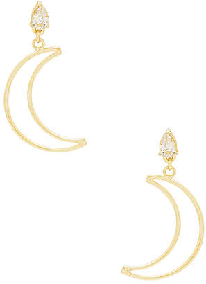 Shashi Crescent Drop Earrings