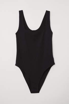 H&M Ribbed Bodysuit - Black