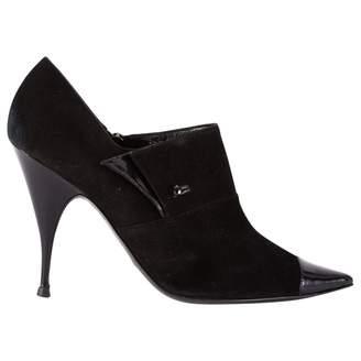 Giorgio Armani Black Suede Ankle boots