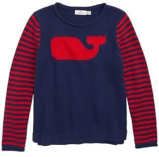 Vineyard Vines Whale Stripe Intarsia Sweater