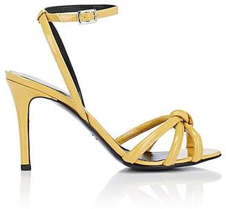 Barneys New York Women's Knotted Patent Leather Ankle-Strap Sandals