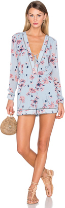 House of Harlow x REVOLVE Mila Long Sleeve Romper $160 thestylecure.com
