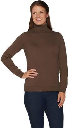 Denim & Co. Essentials Turtle Neck Sweater w/ Rib Trim