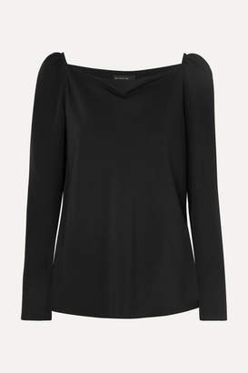 Etro Draped Silk Blouse - Black