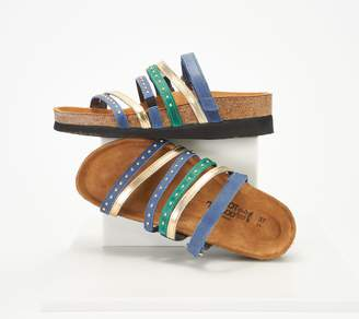 Naot Footwear Leather Multi-Strap Slide Sandals - Prescott