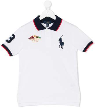 Ralph Lauren striped trim polo shirt