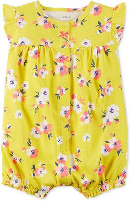 Carter's Floral-Print Flutter-Sleeve Romper, Baby Girls (0-24 months) $14 thestylecure.com