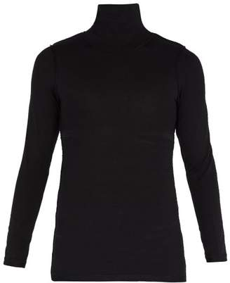 Vetements Inside Out Roll Neck Top - Mens - Black