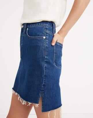 Madewell Stretch Denim Straight Mini Skirt: Step-Hem Edition