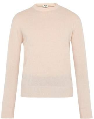 Acne Studios Niale Wool Blend Crew Neck Sweater - Mens - Light Pink