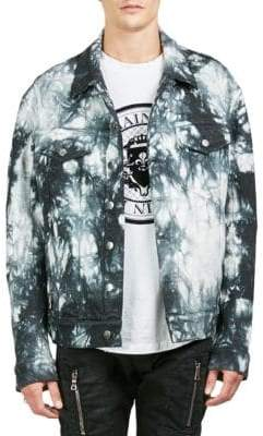 Balmain Tie-Dye Denim Jacket