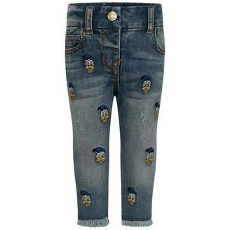 MonnaLisa MonnalisaBaby Girls Blue Donald Duck Jeans