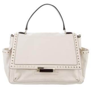 Diane von Furstenberg Highline Courier Faceted Stud Satchel