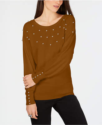 JM Collection Petite Studded Sweater