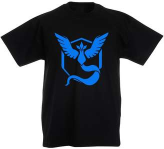 Pokemon Brand88 Team Mystic Go Badge, Kids Printed T-Shirt