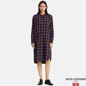 Uniqlo Women's Soft Flannel Long-sleeve Dress (ines De La Fressange)