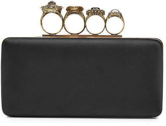 Alexander McQueen Ring Box Clutch with Silk