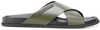 Dolce & Gabbana cross strap sandals