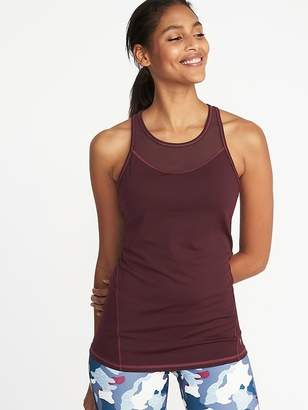 Old Navy Fitted High-Neck Built-In-Bra Performance Tank for Women