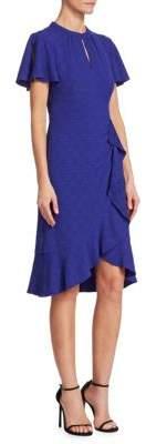 Nanette Lepore Second Act Flutter Bell-Sleeve Shift Dress