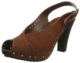 8b13c70ae9f Joe Browns Joe s Womens Suede Sling Back Wooden Heel Shoes