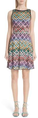 Missoni Plaid Knit Fit & Flare Dress
