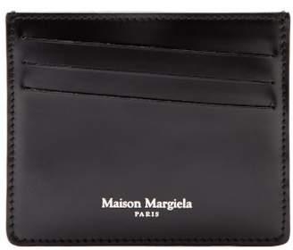 Maison Margiela Crocodile Embossed Leather Cardholder - Mens - Black