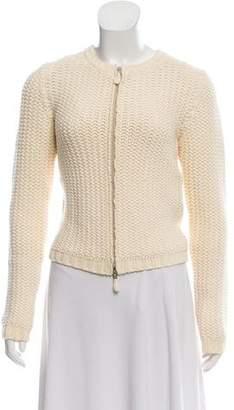 Burberry Textured Zip-Up Sweater