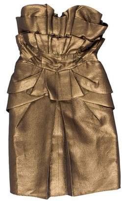 Temperley London Metallic Strapless Dress