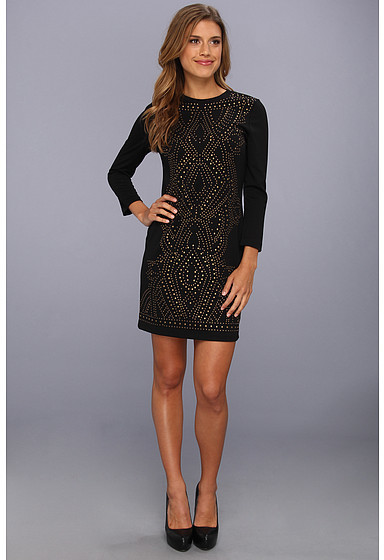 Nicole Miller Harmony Studded L/S Dress