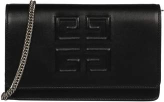 Givenchy Foldover Embossed Logo Shoulder Bag
