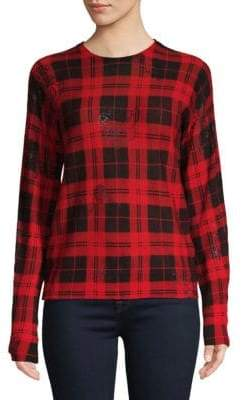 Zadig & Voltaire Plaid Long Sleeve Sweater