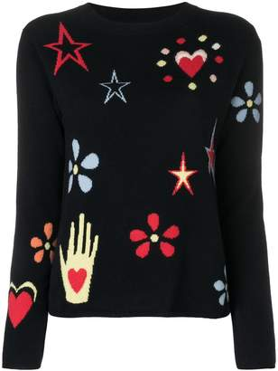 Parker Chinti & intarsia patterns jumper