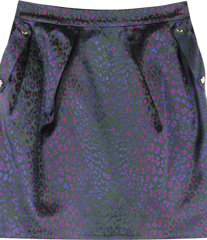 Matthew Williamson Fantasy Leopard Print Skirt
