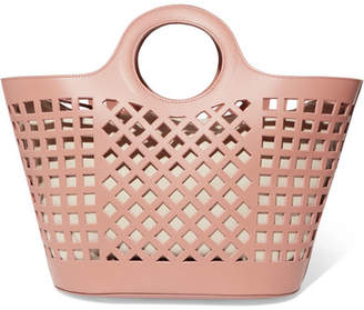 HEREU - Colmado Cutout Leather Tote - Blush