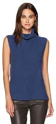 Vince Women's Side Slit Sleeveless Turtleneck