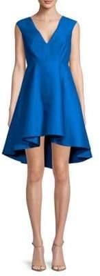 Halston Cap Sleeve Hi-Lo Dress