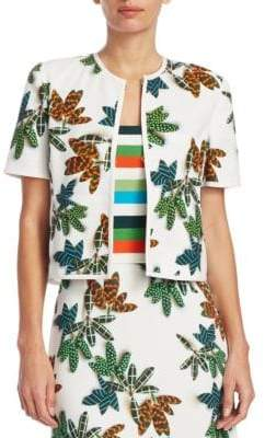 Akris Punto Printed Short-Sleeve Jacket
