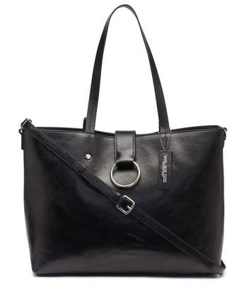 Andrew Marc Rochester Large Open Leather Tote With Center Ring Flap