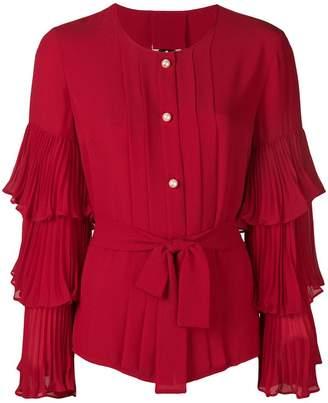 Edward Achour Paris ruffle sleeve blouse